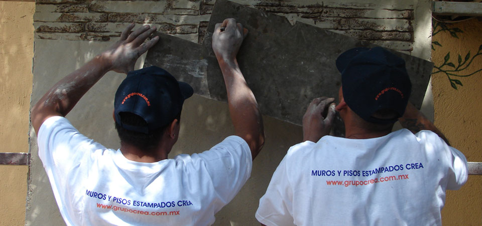 Coating for walls like flagstone, stone, brick or granite avoiding the extraction of natural banks affecting our system as well as providing a natural appearance.