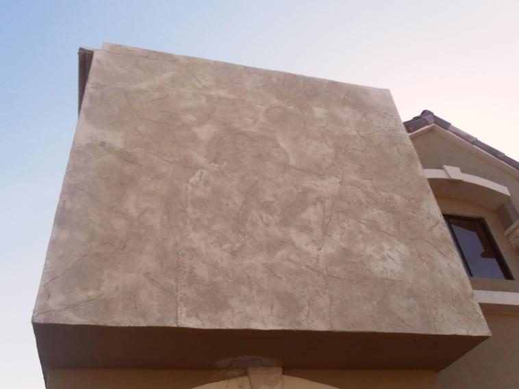 <p>Molde en muro Stone Texture<br />Color: Marfil<br />Desmoldante: Olivo<br />Ejecución: Productos y Servicios Franos, Arq. Francisco Herrejon<br />Mexicali, BC</p>