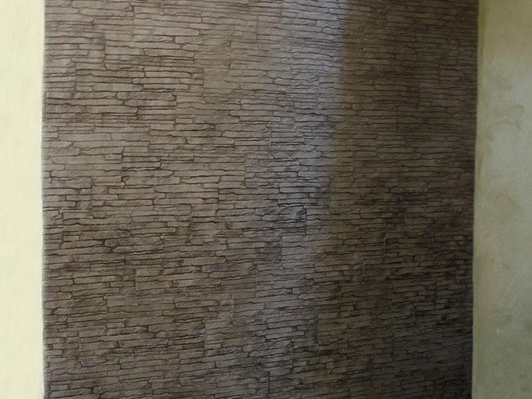 <p>Molde en muro Slab Stone<br />Color: Marfil<br />Desmoldante: Olivo<br />Ejecución: Acabados y Materiales Loma Bonita<br />León, Gto.</p>