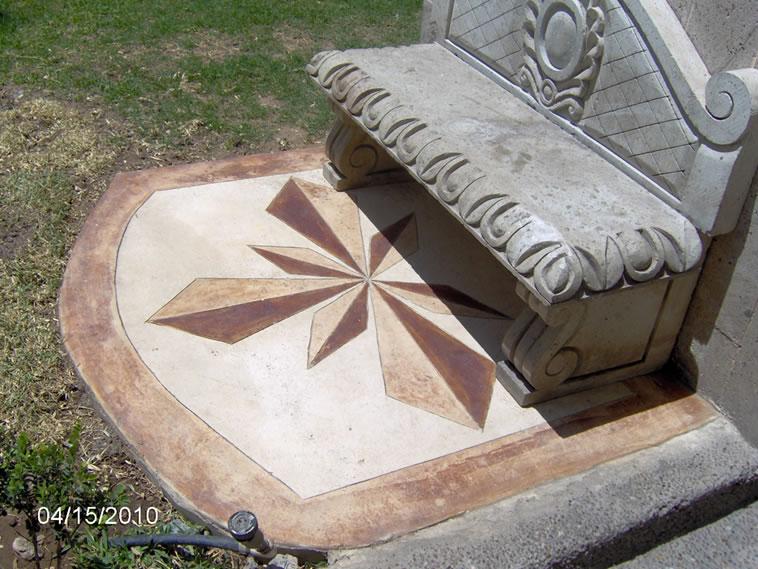 <p>Concreto Oxidado coloreado con Stampa CREA Hardener marfil<br />Color: Habana<br />Ejecución: Solidez<br />León, Gto.</p>